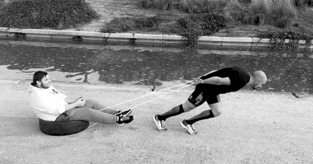 Javier Salas entrenando fuerza