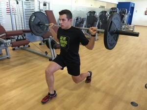 Jorge Rey entrenando fuerza máxima
