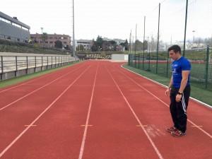 Jorge Rey entrenando