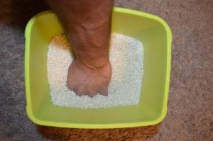 Ejercicio con arroz para mejorar agarre carreras de obstáculos Jorge Rey Javier Salas