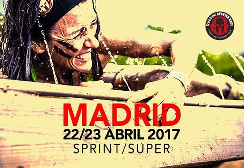 Cartel anunciador de la Spartan Race Madrid 2017